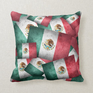 Distressed Mexican Flags Cushion