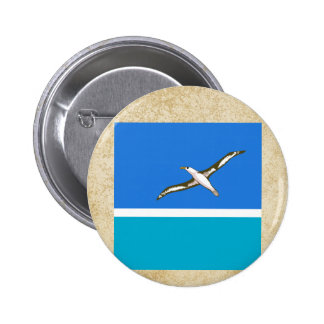Distressed Midway Islands Flag 6 Cm Round Badge