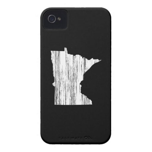 Distressed Minnesota State Outline Case-Mate iPhone 4 Cases