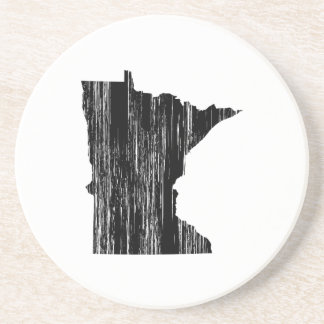 Distressed Minnesota State Outline Coaster