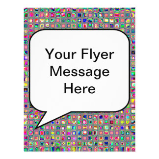 Distressed Multicolored 'Glass' Tiles Pattern Personalized Flyer