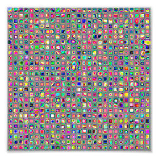 Distressed Multicolored 'Glass' Tiles Pattern Photo Art