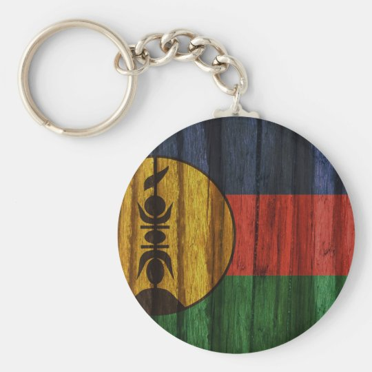 Distressed New Caledonia Flag Key Ring
