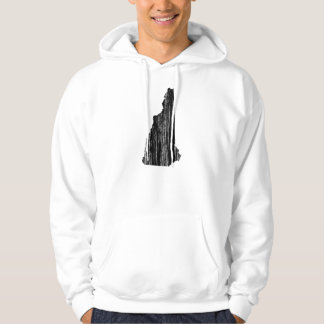 Distressed New Hampshire State Outline Hoodie