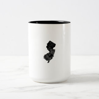 Distressed New Jersey Silhouette Coffee Mug