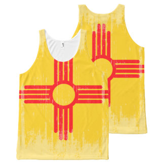 DISTRESSED NEW MEXICO FLAG .png All-Over Print Tank Top