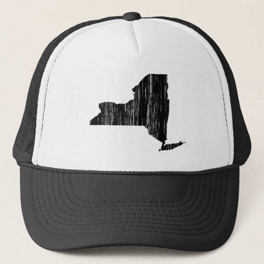Distressed New York State Outline Cap