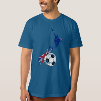 Distressed New Zealand Soccer Tshirts