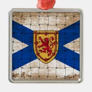 Distressed Nova Scotia Flag Christmas Ornament