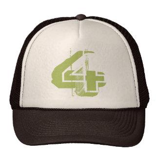 Distressed Number 4 Trucker Hat