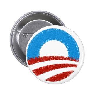 Distressed Obama Symbol 6 Cm Round Badge