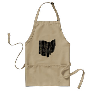 Distressed Ohio State Outline Standard Apron