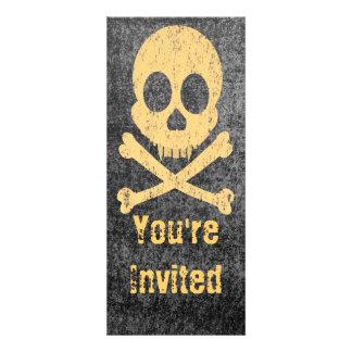 Distressed Orange Skull Invitations