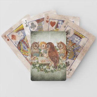 Distressed Owl Poker Cards