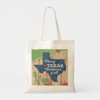 Distressed Paint Texas Tote - Christmas