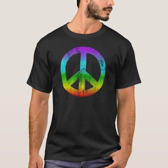 Distressed peace-rainbow T-Shirt