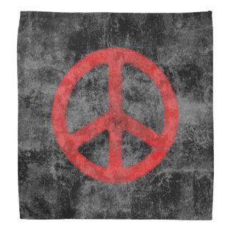 Distressed Peace Sign Bandana