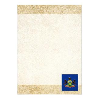 Distressed Pennsylvania Flag 13 Cm X 18 Cm Invitation Card