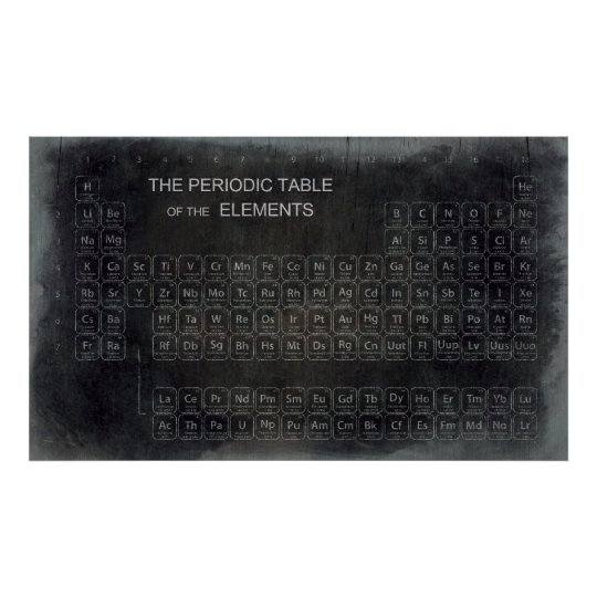Genius Chemistry Periodic Table Words Elements Poster Zazzle