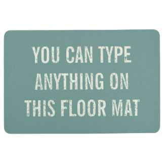 Distressed Personalised Antique Aqua Floor Mat