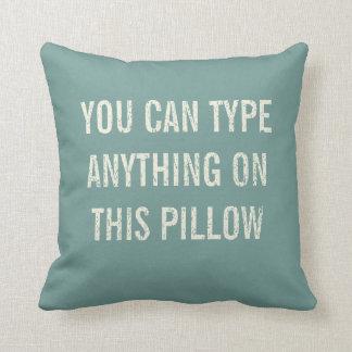 Distressed Personalized Antique Aqua Cushion