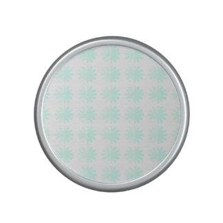 Distressed Petal Snowflake Pattern Speaker