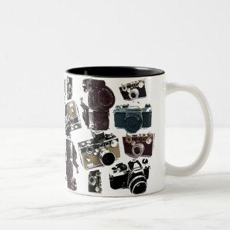 distressed photographer photography retro Camera Two-Tone Coffee Mug