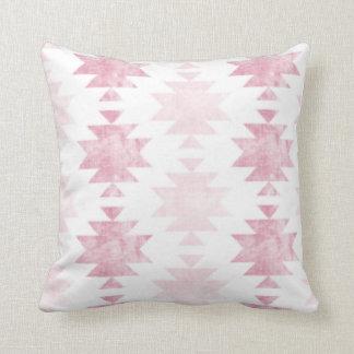 Distressed Pink Boho Throw Pillow
