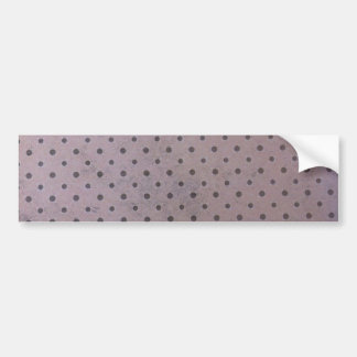 Distressed polka bumper sticker