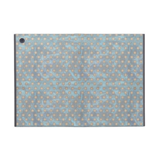 Distressed Polka Dot Pattern in Blue and Beige iPad Mini Cover