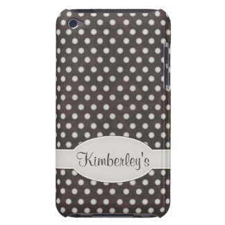 Distressed Polka Dot Pattern in Charcoal & White iPod Case-Mate Cases
