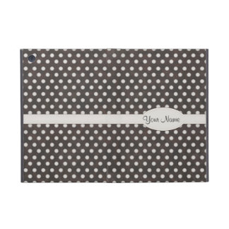 Distressed Polka Dot Pattern in Charcoal & White iPad Mini Cover