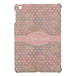 Distressed Polka Dot Pattern in Pink and Beige Case For The iPad Mini