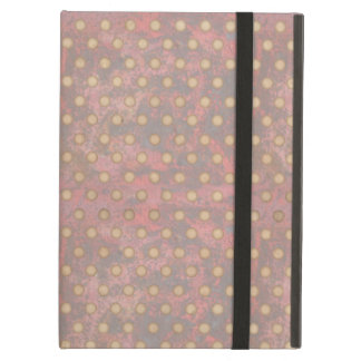Distressed Polka Dot Pattern in Pink and Beige iPad Folio Cases