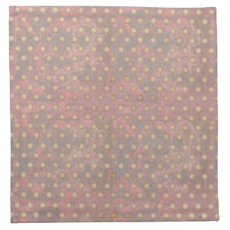 Distressed Polka Dot Pattern in Pink and Beige Napkin