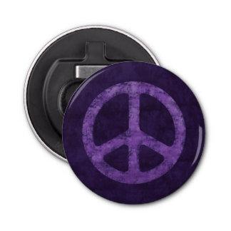 Distressed Purple Peace Sign Bottle Opener