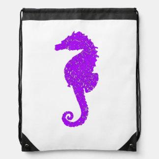 Distressed Purple Seahorse Backpack