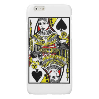 Distressed Queen of Spades Case iPhone 6 Plus Case