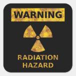 Distressed Radiation Hazard Sticker