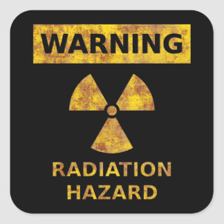 Distressed Radiation Hazard Sticker