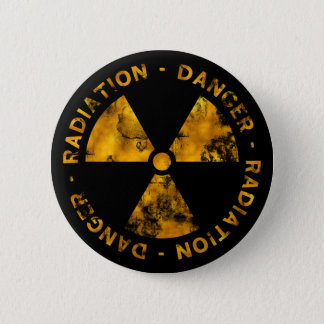 Distressed Radiation Symbol Button