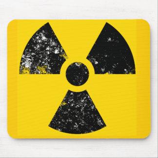 Distressed radiation symbol mouse mat