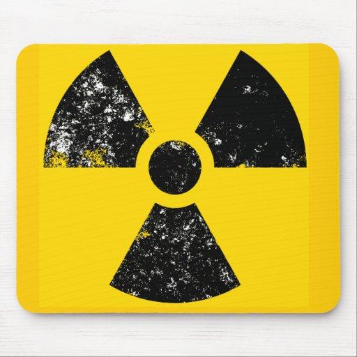 Distressed radiation symbol mousemat