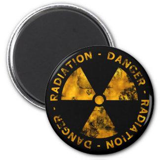 Distressed Radiation Warning Magnet