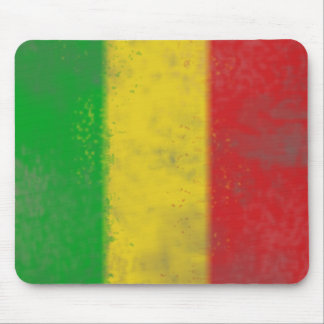 Distressed Rasta Stripes Mouse Mat
