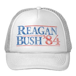 Distressed Reagan Bush '84 Campaign Hat