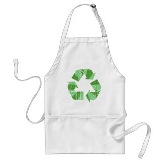 Distressed Recycle Symbol Standard Apron