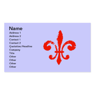Distressed Red Fleur De Lis, Pack Of Standard Business Cards