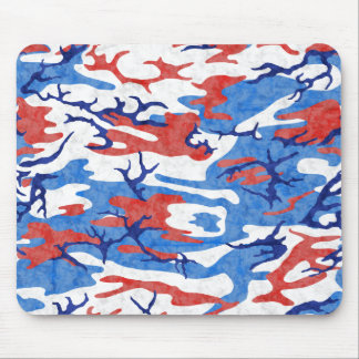 Distressed Red White and Blue Camo Mouse Pad