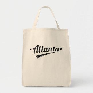 Distressed Retro Atlanta Logo Tote Bag